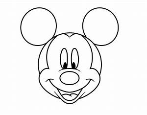 Mickey Mouse Head Coloring Pages - AZ Coloring Pages
