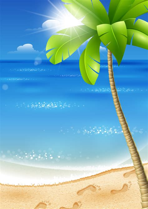 beautiful tropical backgrounds vector