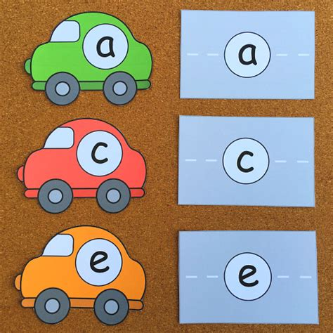 car alphabet match