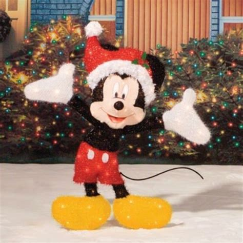 lighted mickey mouse sculpture outdoor christmas yard decor