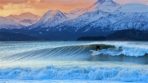 Winter Surfing Bing Wallpaper Download