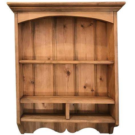 pine kitchen wall cabinets pine wall shelf for at 1stdibs 4227