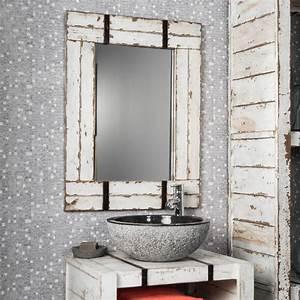 Miroir Salle De Bain Bluetooth : miroir de salle de bain en mindi 60x80 loft blanc ~ Dailycaller-alerts.com Idées de Décoration