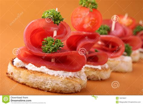 image canapé appetizer canapes stock image image of blini canape