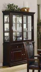 Coaster Home Furnishings Curio Cabinet Walnut by Ramona Buffet And Hutch In Warm Walnut Finish By Coaster