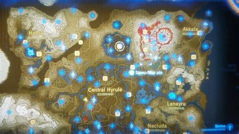 etsy bild zelda breath   wild map shrines