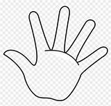 Hand Clipart Handprint Outline Template Printable Coloring Finger Fingers Clip Remember Middle Rule Pinclipart Transparent Clipground sketch template