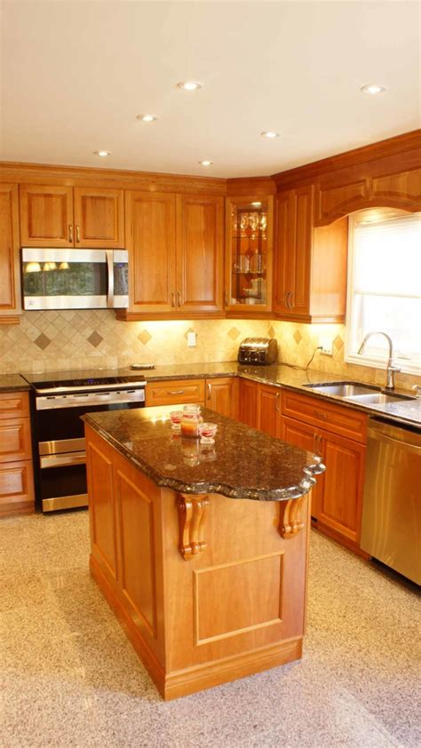 classic cherry kitchen cabinets classic cherry kitchen les armoires s 233 guin cabinets 5427