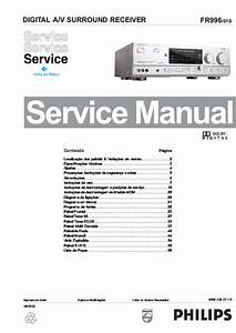 Philips Digital Surround Receiver Fr996  Service Manual  Repair Schematics