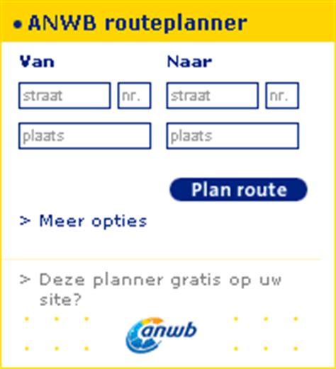 routeplanner op uw eigen site anwb