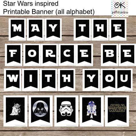 All Alphabet Star Wars Banner Printable Set All