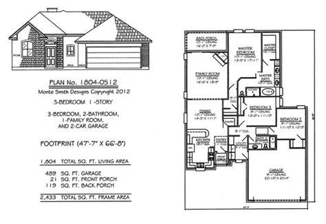 3 bedroom floor plans with garage narrow 1 floor plans 36 to 50 wide