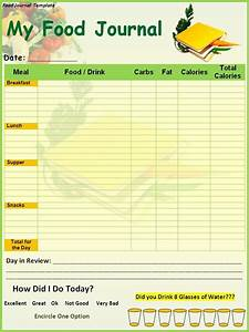 Food Diary Template Printable