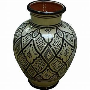 Vase En Céramique : vase marocain en c ramique blanc et noir ~ Teatrodelosmanantiales.com Idées de Décoration