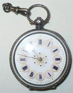 ANTIQUE ENGLISH ? SILVER ART NOUVEAU POCKET WATCH MARKED 0 ...