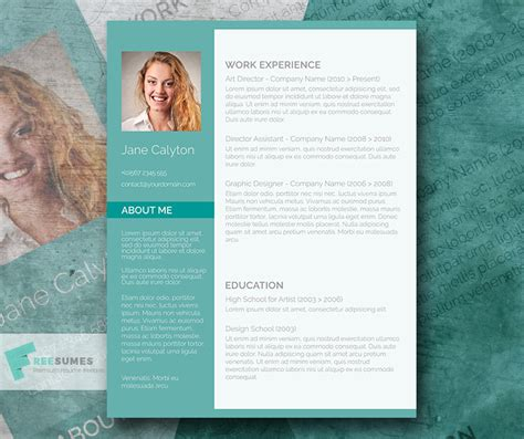 Fancy Resumes Templates Free by Emerald A Fancy Word Resume Template Freebie