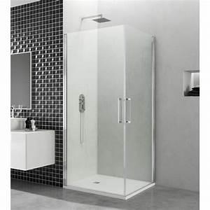 paroi de douche d39angle portes battantes helia k robinet With portes douche battantes