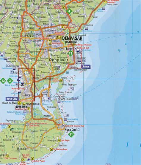 wegenkaart landkaart fleximap bali insight guides
