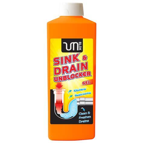 kitchen sink unblocker b m sink drain unblocker gel 1l 293474 b m 2952