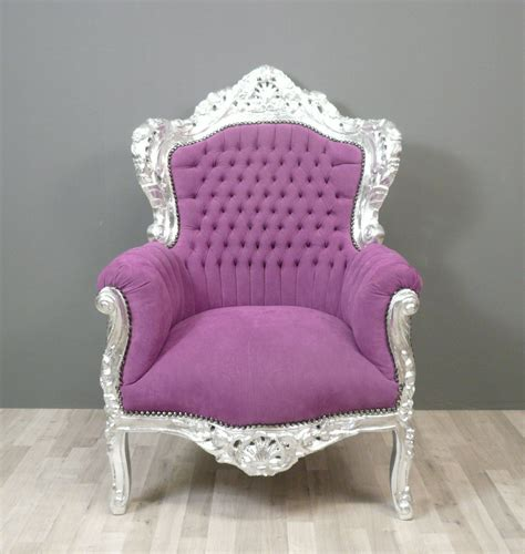 fauteuil baroque violet chaise baroque et meuble