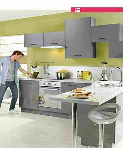 agreable cuisine equipee gris anthracite 4 catalogue With cuisine equipee gris anthracite