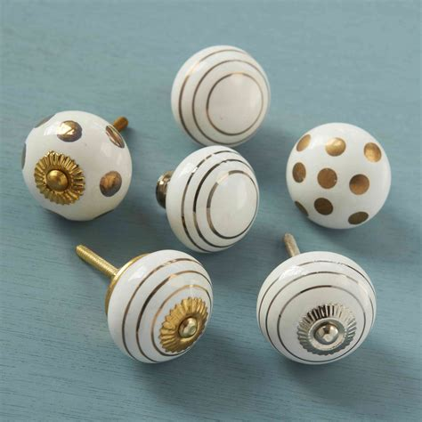 white ceramic cabinet knobs unique home accessories homeware and decor gold silver