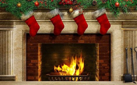 Free Christmas Fireplace Wallpapers
