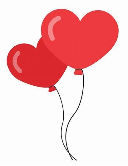 Balloon Heart Balloons Clipart Shaped Transparent Romance