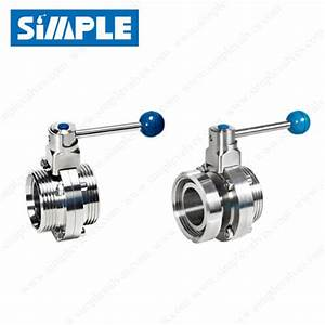 Threaded End Butterfly Valve  Sanitary Design  Manual Type