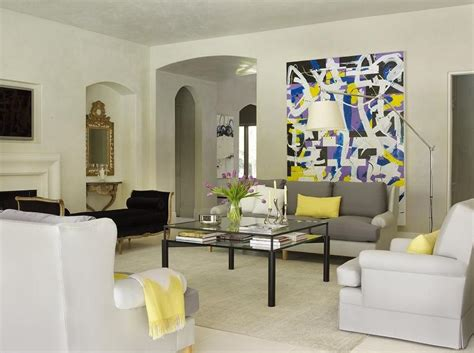 Yellow Grey And Purple Living Room by Black And Gray Living Room Contemporary Living Room