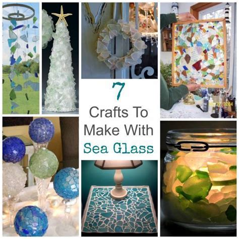 crafts    sea glass glass art