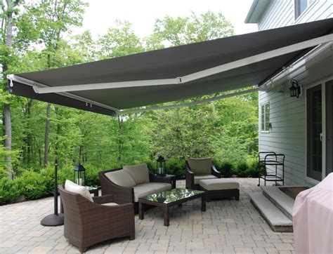retractable patio awning retractable awnings contemporary patio newark by
