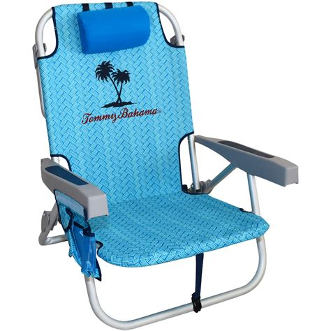tommy bahama backpack cooler chair blue palm by rio