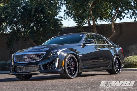 Black Rims For Cadillac Cts by 2016 Cadillac Cts With 20 Quot Tsw Monaco 2pc In Matte Black