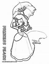 Peach Coloring Pages Princess Mario Print Rosalina Super Colouring Mermaid Rapunzel Bros Baby Printable Game Bowser Galaxy Princesses Ariel Brothers sketch template