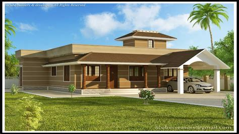 one floor house single modern house designs in kerala modern house