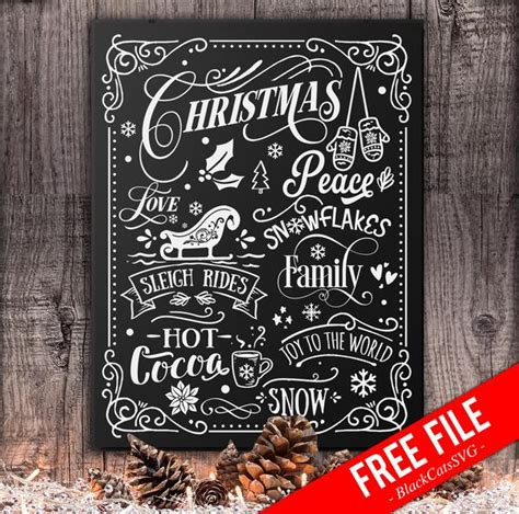 Find beautiful, timeless png and svg cut files for scrapbooking, card making, and more. Christmas word art poster - FREE SVG cutting file ...