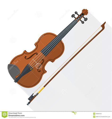 colored violins color flat style vector fiddle violin stock vector image