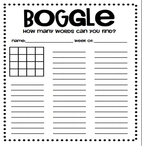 A Crucial Week Free Downloads Boggle Board And Target Board