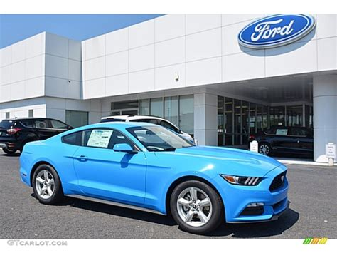 2017 Ford Mustang V6 Specs by 2017 Grabber Blue Ford Mustang V6 Coupe 120377480
