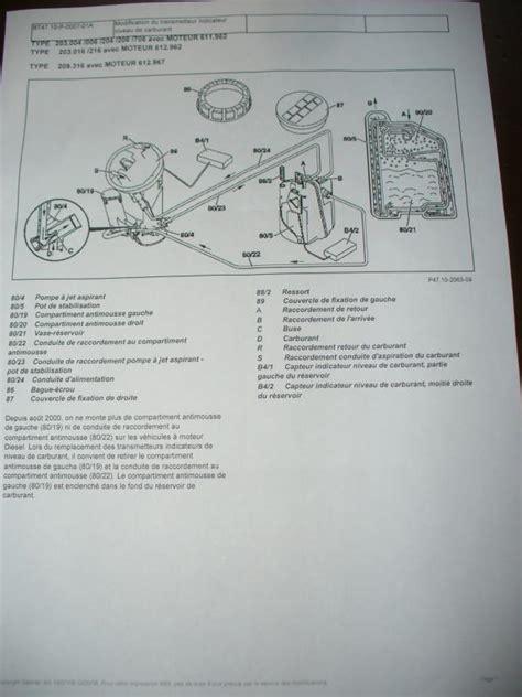 plan des si鑒es air c220cdi w203 réservoir go sous dépression mercedes mécanique électronique forum technique