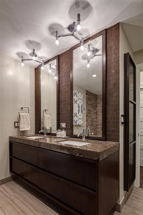 modern bathroom features stunning futuristic lighting