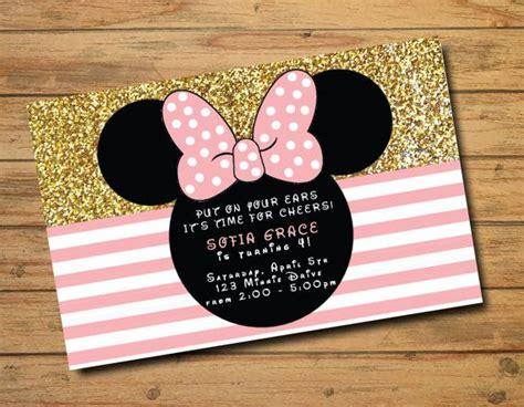 minnie mouse birthday invitations polka by