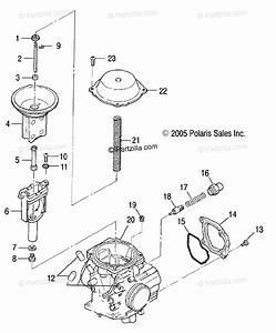 Polaris Atv 2006 Oem Parts Diagram For Carburetor  Upper