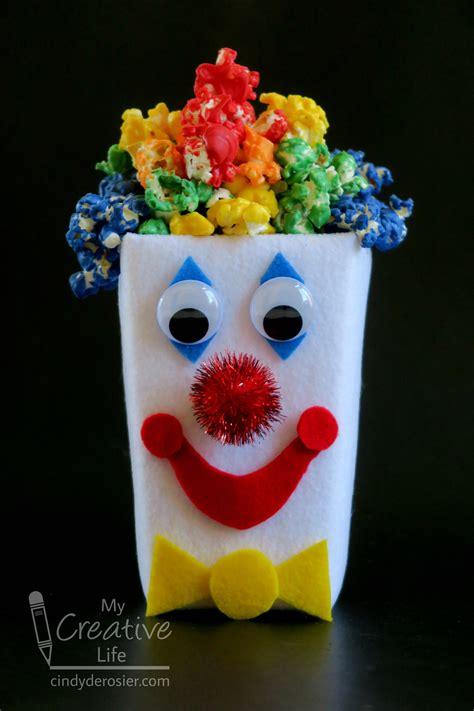 popcorn box clown fun family crafts
