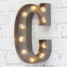 Carnival Letter Lights 'a To Z' Industrial Silver By Rocket & Rye Notonthehighstreetcom