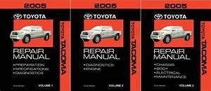 Bishko Oem Repair Maintenance Shop Manual Bound For Toyota Tacoma 2005