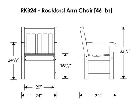 polywood rockford arm chair