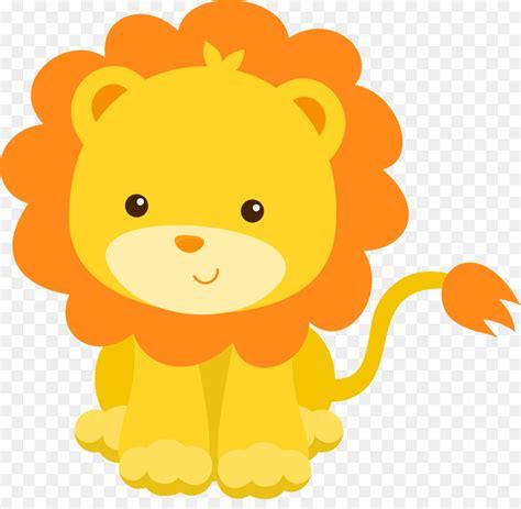 lion infant baby shower child clip art safari
