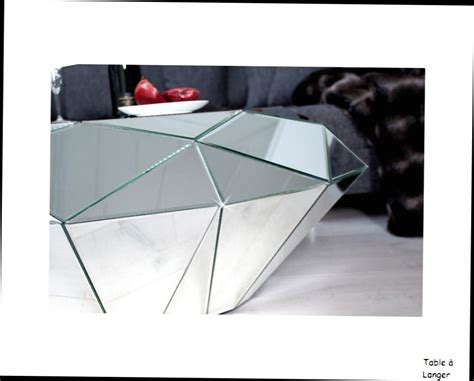 table basse design table basse miroir diamant facette